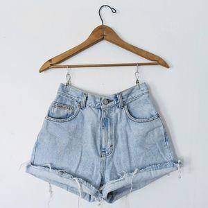 VNTG Calvin Klein Cutoffs Cuffed Denim Jean Shorts